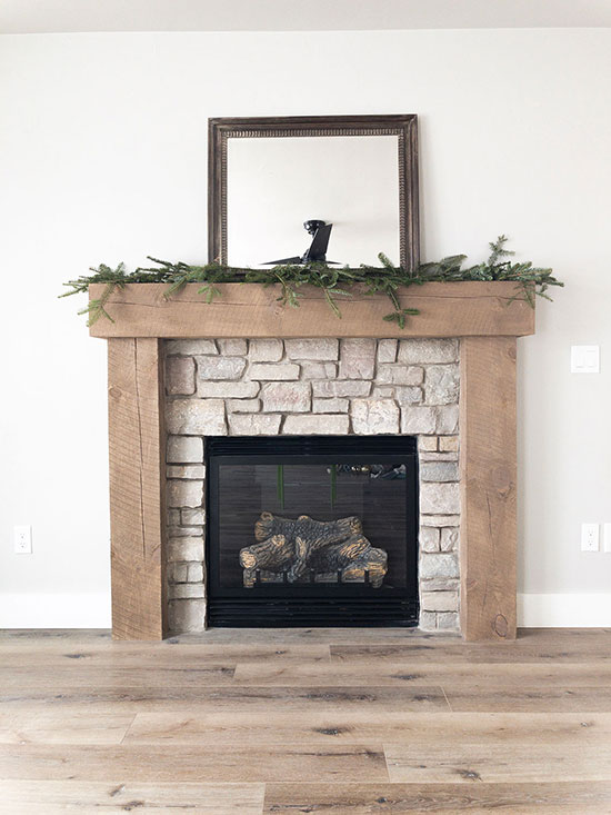 Winter Mantel Step 2