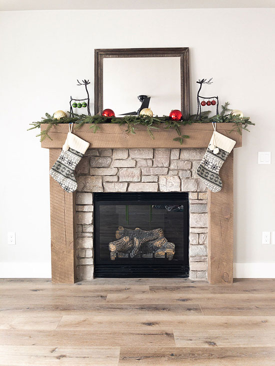 Winter Mantel Step 5