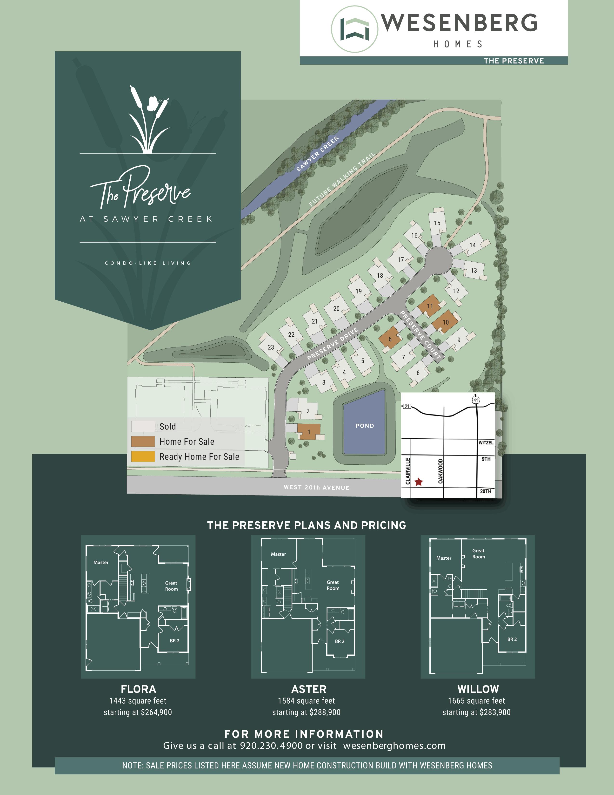 Preserve at Sawyer Creek Condo Map