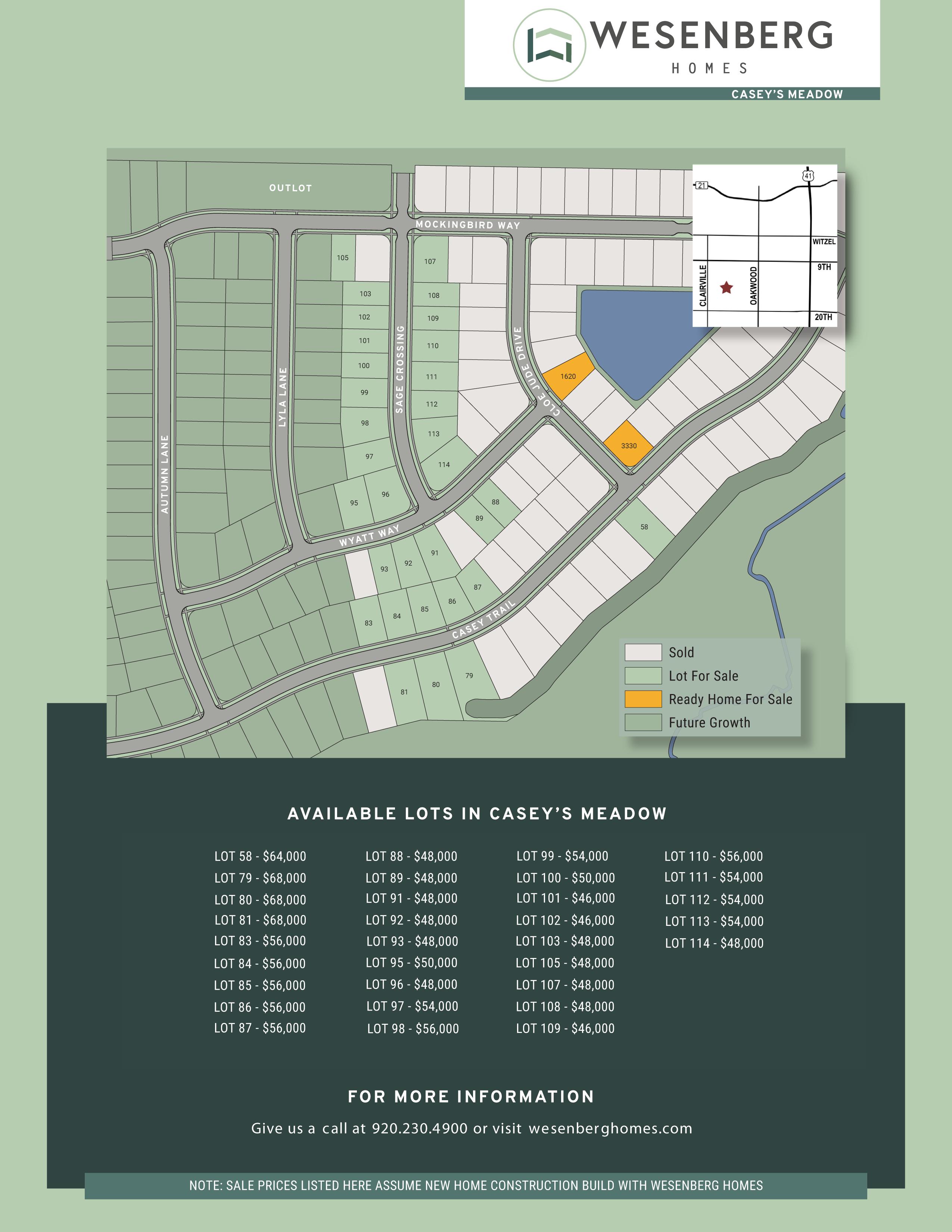 Casey's-Meadow-Oshkosh-Lots-for-Sale